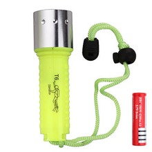 T6 Diving LED Flashlight 2000LM CREE XML lamp Waterproof lanterna underwater scuba Dive Torch light rechargeable