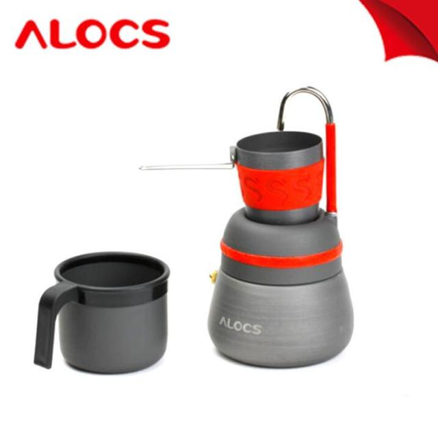 Alocs CW-EM01 Outdoor Coffee kettle with Two Coffee Cups Mocha Coffee Pot Set