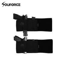 2 in 1 Combo Abdominal Band Pistol Holster Airsoft Tactical Military Gun for Glock 17 19 22 Series and Most Handguns