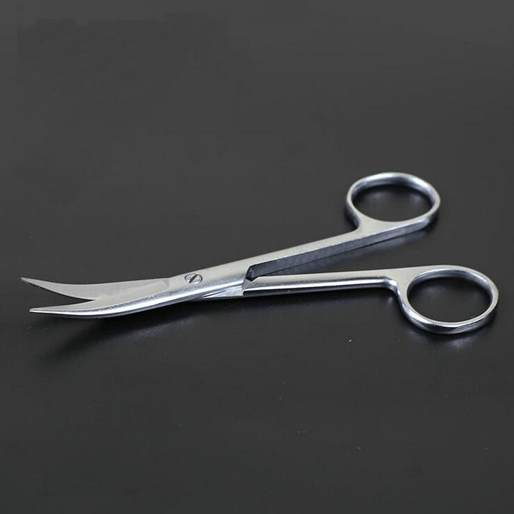 5pcs/set Curved tip Stainless Steel Forceps, Surgical operating scissors for Laboratory/Animal/Hemostatic/Medical