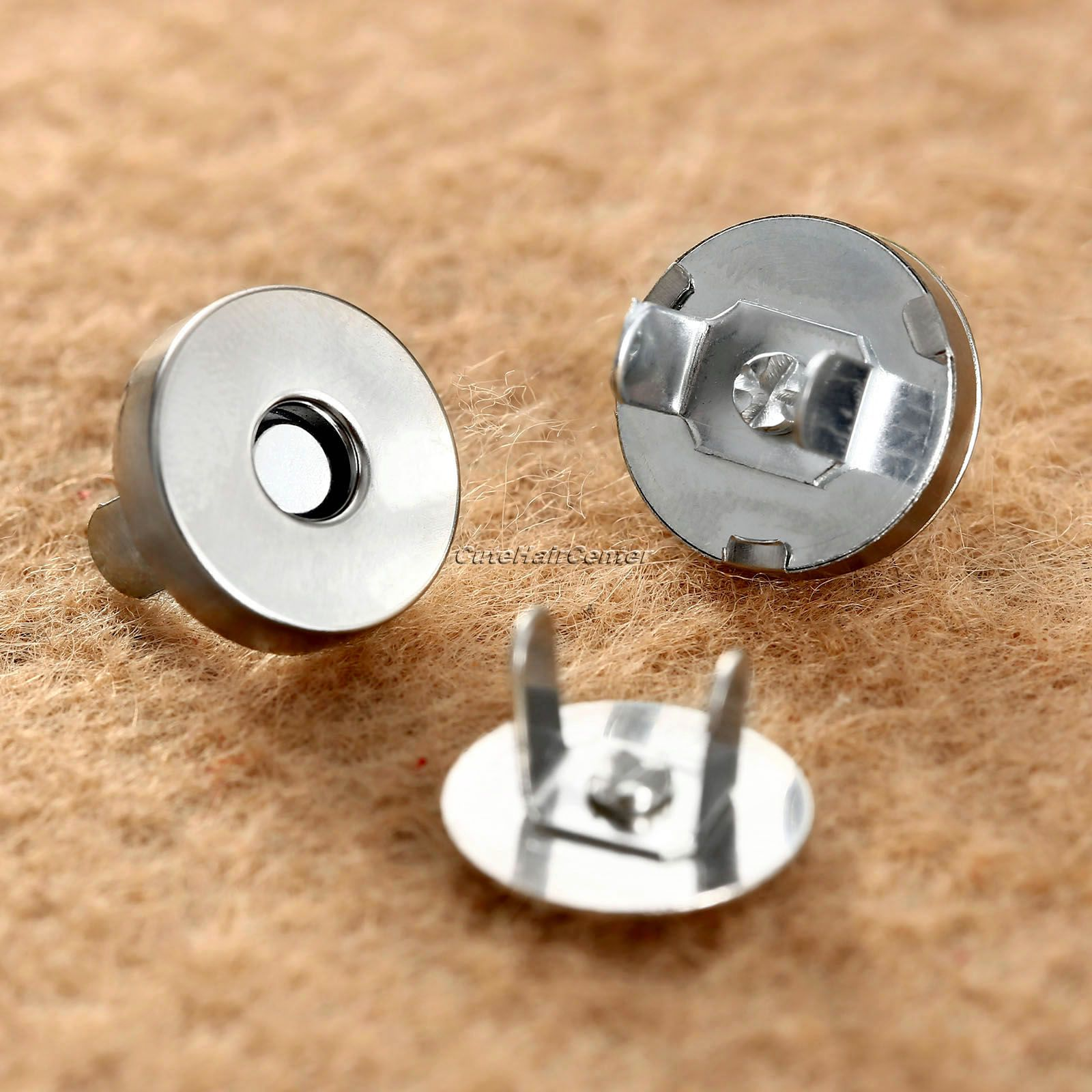 Hot Sale 10 Sets Magnetic Metal Snaps Fasteners Bag Purse Clasps Sewing Buttons Handbag Craft Leather Coat Buttons 14mm/18mm