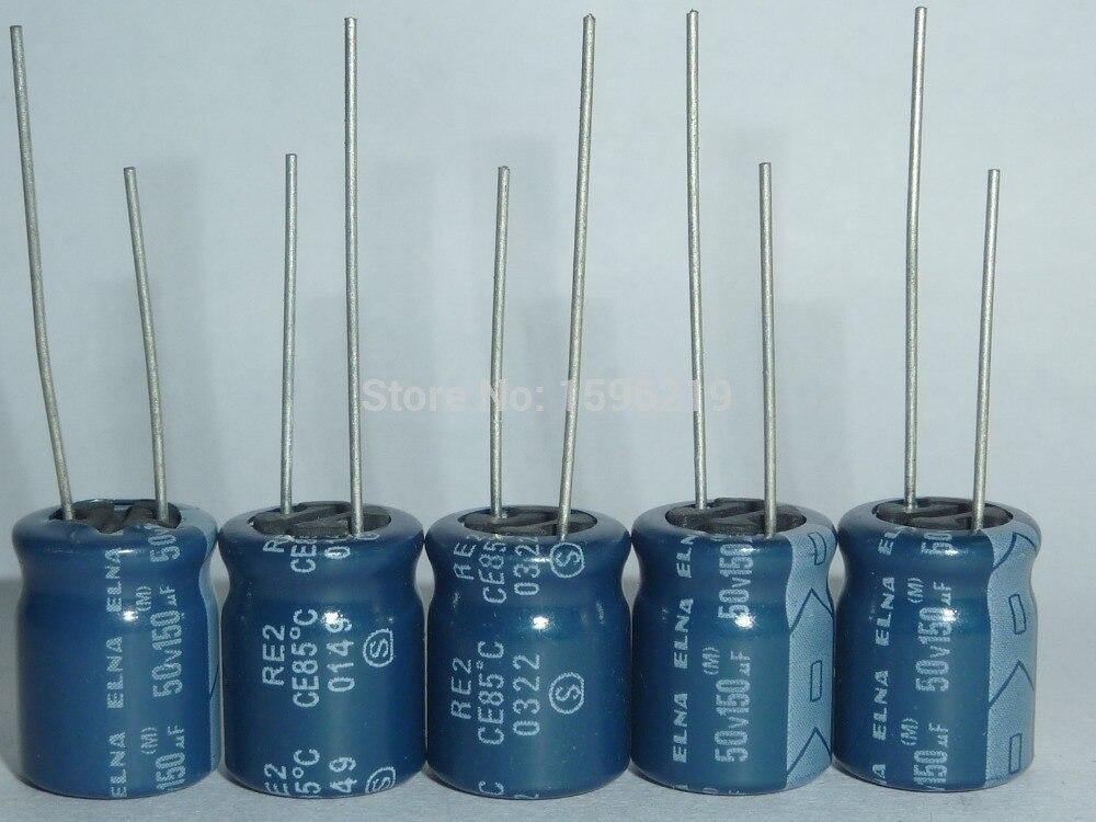 10pcs 150uF 50V ELNA RE2 Series 10x12.5mm 50V150uF Audio Capacitor