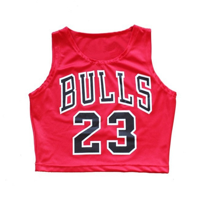 5c77c4a0f0eb49 Z 3 Bulls 23 Women Summer Crop Top Fashion Sport Sexy Casual basketball  Short Vest Top shirt