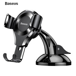 Baseus Car Holder Automatic Clamping Sucker Mount Holder Stand Car Phone Bracket For iPhone X 8 8 Plus For Samsung S8 Xiaomi LG