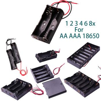 Glyduino 1 2 3 4 6 8x dla AA AAA 18650 połączenie pokrywa komory baterii pokrywa zamknięta i na wpół otwarte pojemnik na pudełko baterii tanie i dobre opinie 0-12V ACA-ALL Battery Case Osłona izolacji Niskiego napięcia