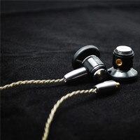 New Arrive FENGRU HYCK100 1 2M Flat Head Metal Earphone DIY Double Dynamic Drive Unit Earphone