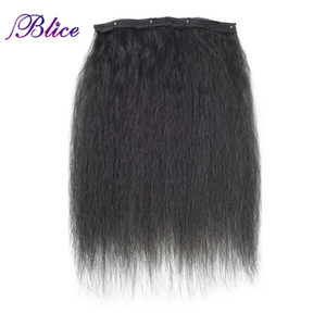 Image 2 - Blice 18 Clips In Hair Hairpieces 16 20 Inch Kinky Straight Long Synthetic Heat Resistant Hair Extensions 8Pcs/set Deal