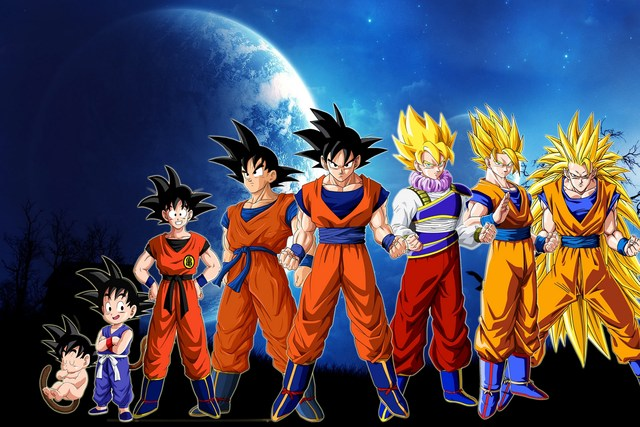 Dragon ball z goku growing up path wallpapers living room home art dragon ball z goku growing up path wallpapers living room home art decor wood frame fabric thecheapjerseys Gallery