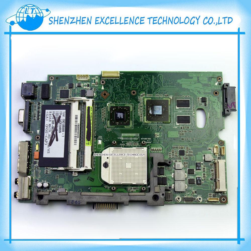 Prix pour D'origine K50AF REV 2.1 carte mère pour Asus ordinateur portable DDR2 K50AF Mainboard Testé