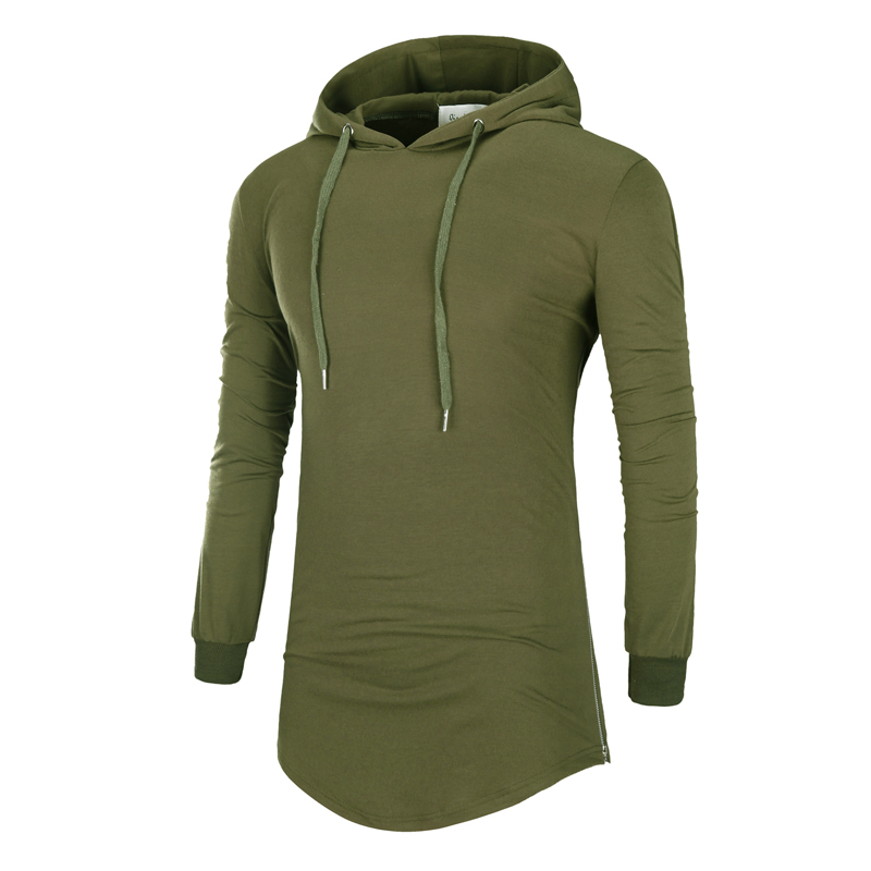 5 color New 2017 mens Hooded long sleeved T-shirt Tops brand cotton Men solid and five t-shirts Big size loose M-XXXL