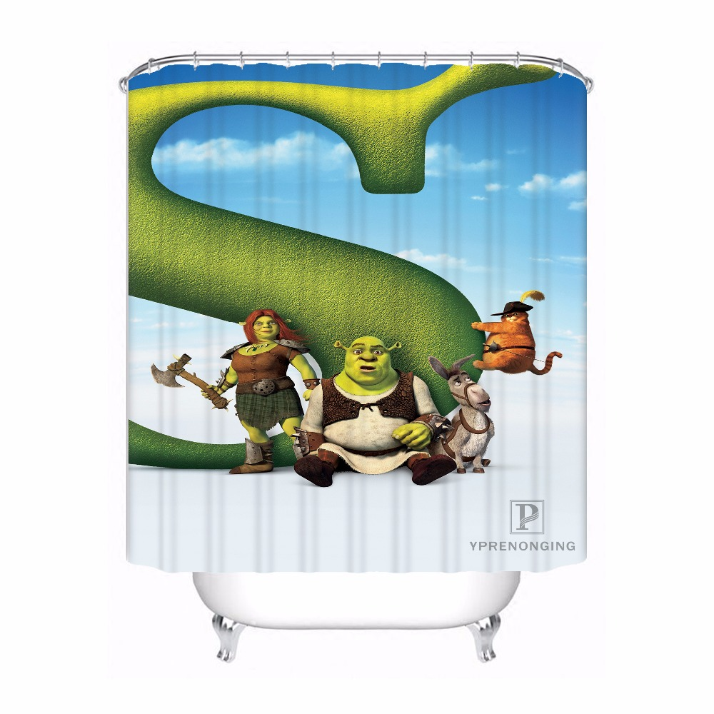 Custom Shrek Cartoon Patten Bath Curtain Bathroom Mildewproof Waterproof Polyester Shower Curtain180417 04 56 In Curtains From Home Garden On