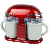 Double Cone Electric Ice Cream Maker Classic Children's Ice Cream Machine Home Automatic Icecream Machine for Kids Home DIY