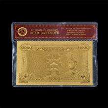 Billete de dinero de papel dorado Malasia 1000 Ringgit plateado oro 99999 billete de dinero