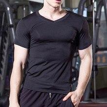 CALOFE manga corta camisas Sport de los hombres Running camisetas serpiente  gimnasio ropa Fitness Tops 2018 Jerseys de fútbol pa. d73dde8dac8ae