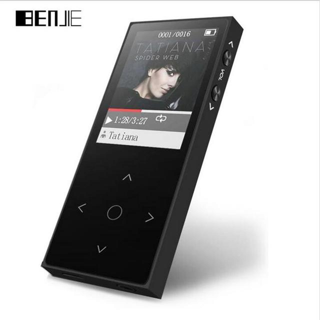 2017 Original BENJIE X1 Touch Screen 8GB High Quality MP4 Music Player Lossless Alloy Metal Body Support 128GB TF Card with FM