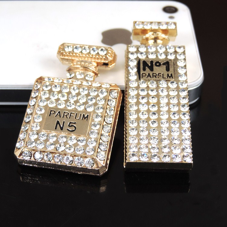 10pcs per lot Alloy Rhinestone Perfume C brand Cell Phone DIY Alloy Dec  Decoration 3cc3371ccc58