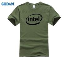 GILDAN Intel T-shirt Top Lycra Cotton T shirt