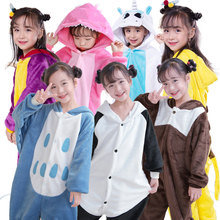 SAILEROAD Baby Girl Pajamas For Girls Unicorn Pajamas Kids Flannel Kigurumi Children Pijama Animal Sleepwear Warm Winter Onesies все цены
