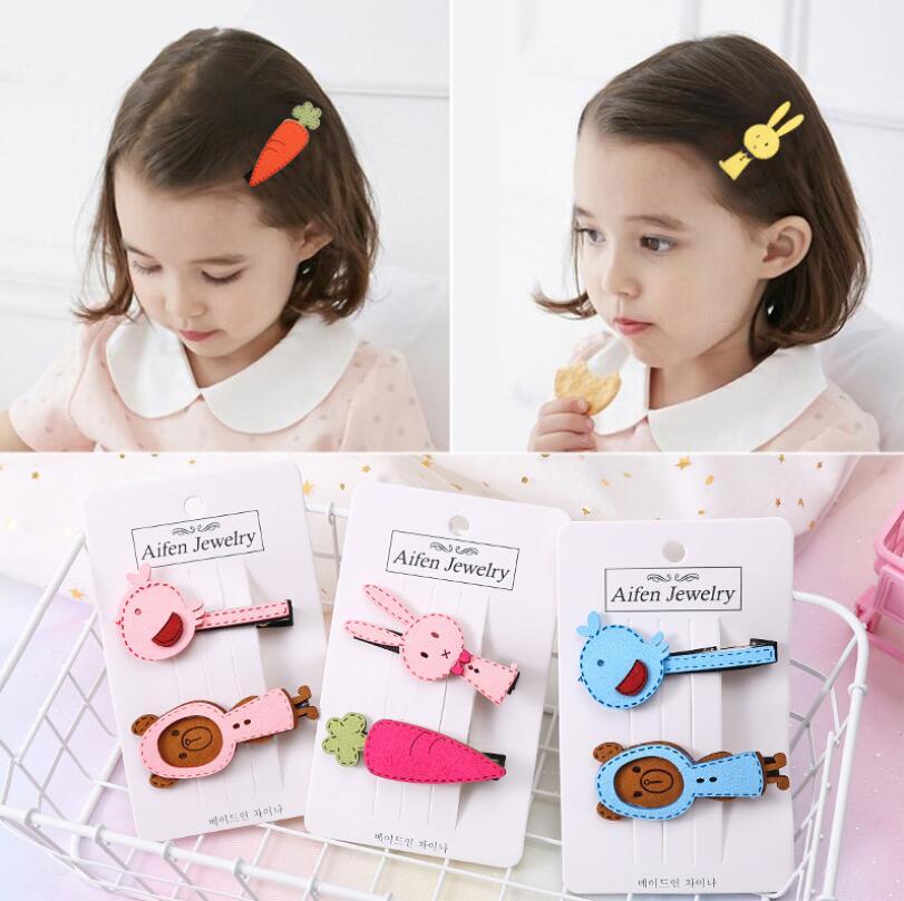2Pcs/Set 6cm Hairpins Bird Hair Clips For Children Girls Hair Accessories Baby Cute Hair Clip Pins Rabbit Metal Barrette A26