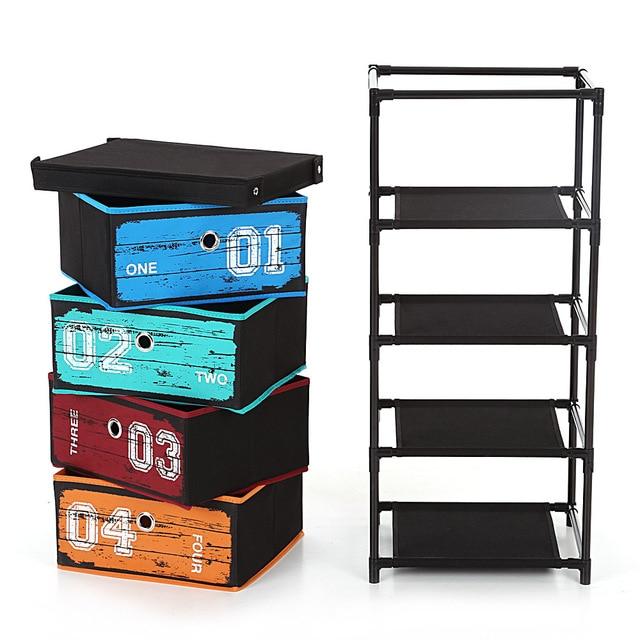 Ikayaa Organizer Antiken Stil Stoff 4 schublade Home Office Schrank ...