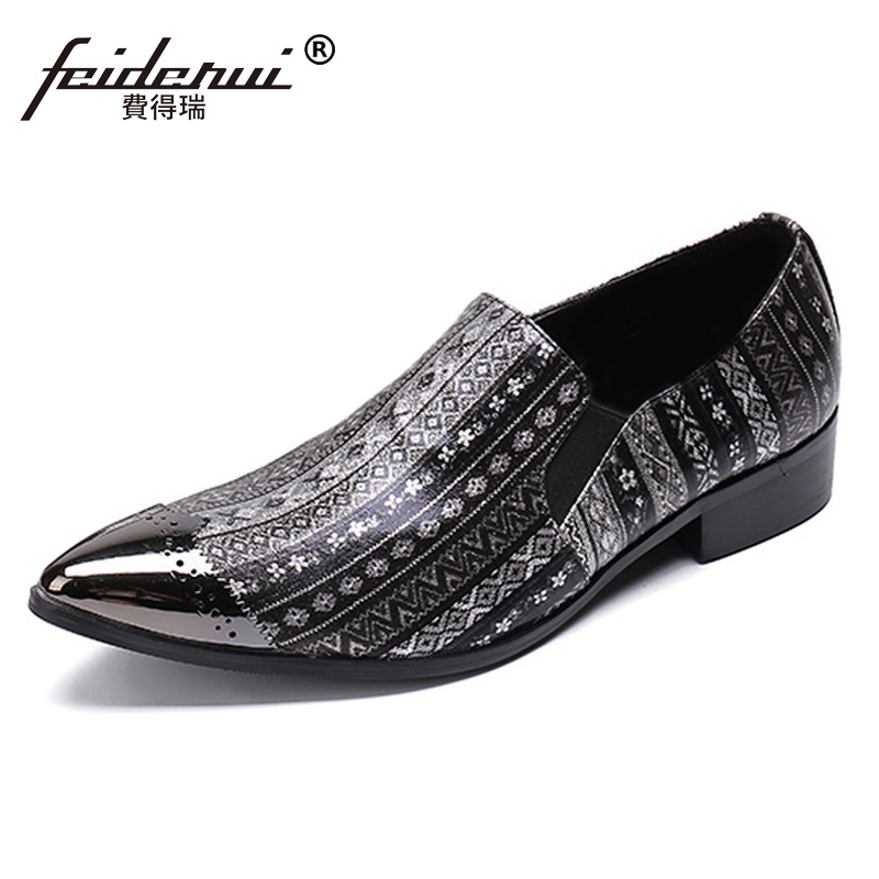 Plus Size Luxury Pointed Toe Man Formal Dress Brogue Loafers Italian Designer Genuine Leather Slip on Mens Party Shoes SL342Plus Size Luxury Pointed Toe Man Formal Dress Brogue Loafers Italian Designer Genuine Leather Slip on Mens Party Shoes SL342
