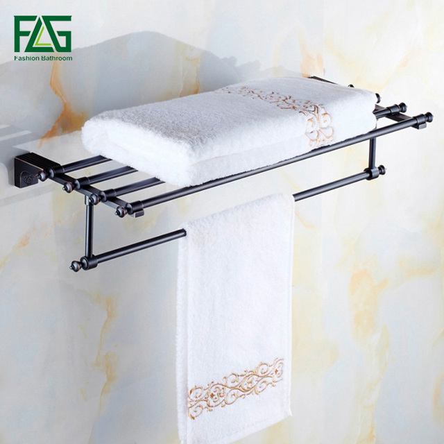 Us 55 2 40 Off Flg Whole And Retail New Design Euro Clical Br Oil Rubbed Bronze Bathroom Towel Double Bar Wall Mount Rack 81901 In