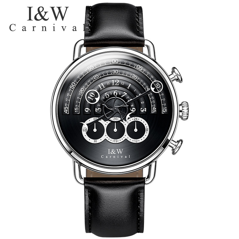 Runway dial Unique design luxury brand men watch chronograph stop men watches military full steel leather clock relogio sapphireRunway dial Unique design luxury brand men watch chronograph stop men watches military full steel leather clock relogio sapphire