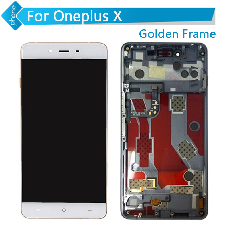 For Oneplus X LCD Display Touch Screen Digitizer Assembly with Frame White Free Shipping hot 2pcs new toner powder chip for samsung 409 for samsung clp 310 315 315w clx 3170 3175printer cartridge powder