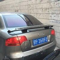 Para Audi A4 B7 2004 2005 2006 2007 2008 Decoração Do Carro Pintura Cor Da Pintura de Alta Qualidade Plástico ABS Tronco Traseiro spoiler