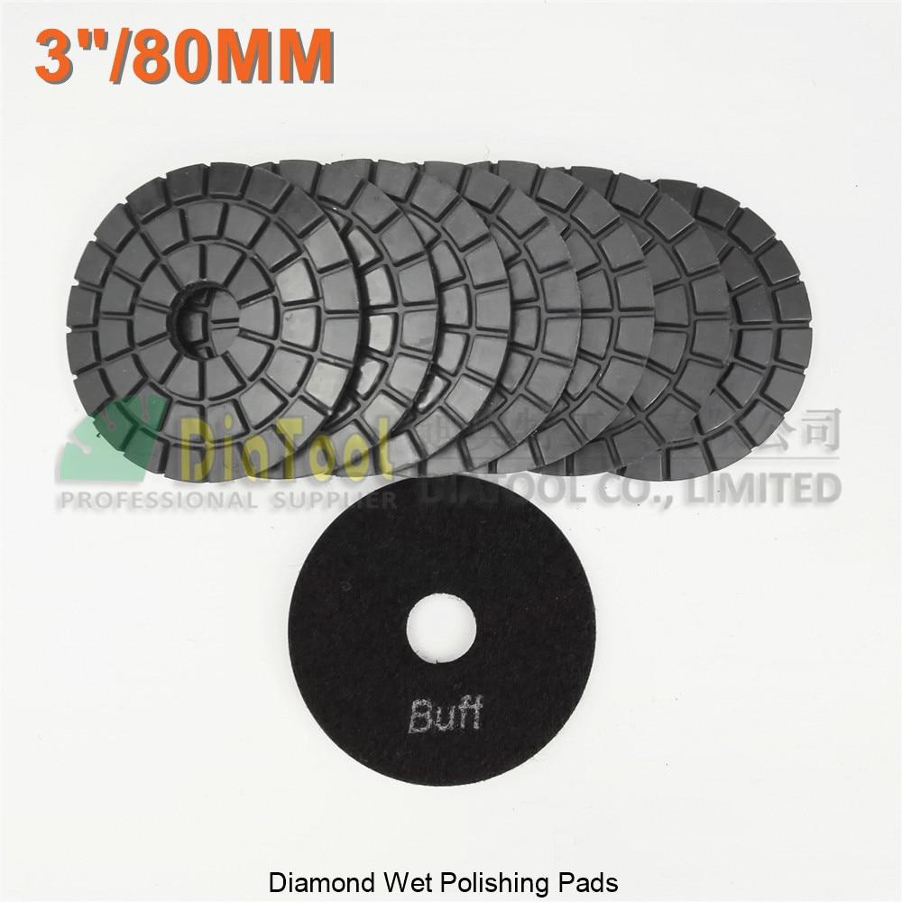 7pcs//pack 3/'/' 80mm Diamond wet polishing pads disc sander pad for marble stone