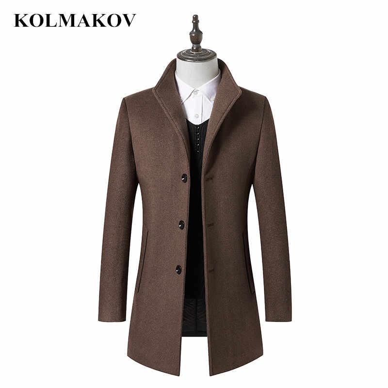 2019 Новинка весны пальто Для мужчин Бизнес высокое качество шерстяные куртки зимние кашемировые Тренч Для мужчин Классические верблюда пальто