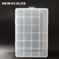 Big Tool Box Electronic Plastic Parts Waterproof Transparent Toolbox Casket SMD SMT Screw Containers Component Storage