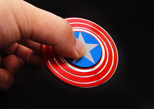 B01 Hand Spinner toys Fidget Spinner Captain America shield fidget spinner EDC hand spinner for interesting anti pressure toys