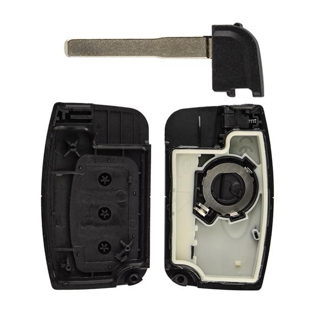 غطاء مفتاح السيارة OkeyTech لسيارة Ford for Focus Fiesta Mk7 Escape Kuga غلاف بطاقة ذكية فارغة مفتاح التحكم عن بعد حافظة مفتاح دخول السيارة بدون مفتاح HU101Blade