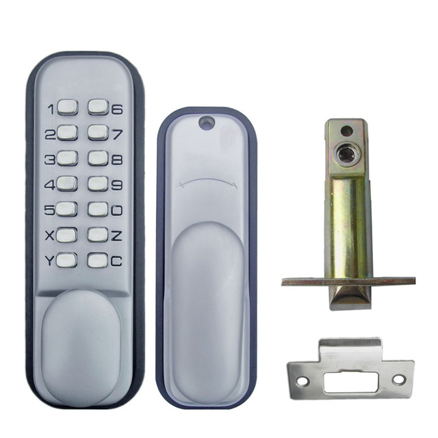 Mechanical Code Door Lock Digital Machinery Keypad Password Entry Lock  Stainless Steel Latch Zinc Alloy Silver