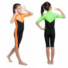 *New Wholesale Muslim Islamic Tops Modest Pool Seashore Swimming Swimwear Children One-piece Swimsuit Equipment