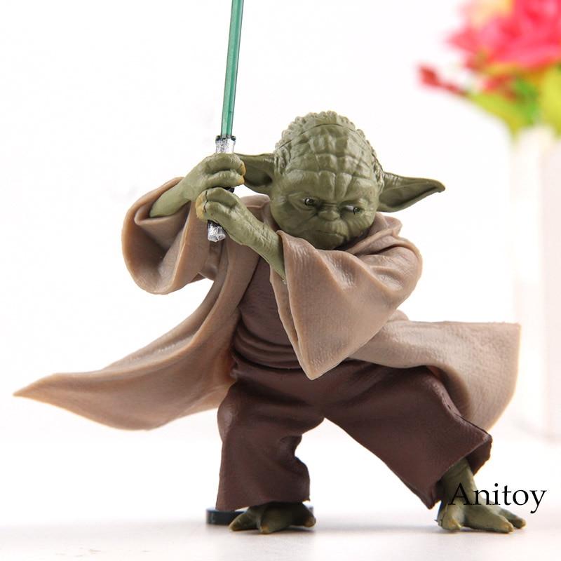 Star Wars chevalier Jedi maître Yoda PVC Actions Figurine Collection jouet poupée Figurine 6 cm