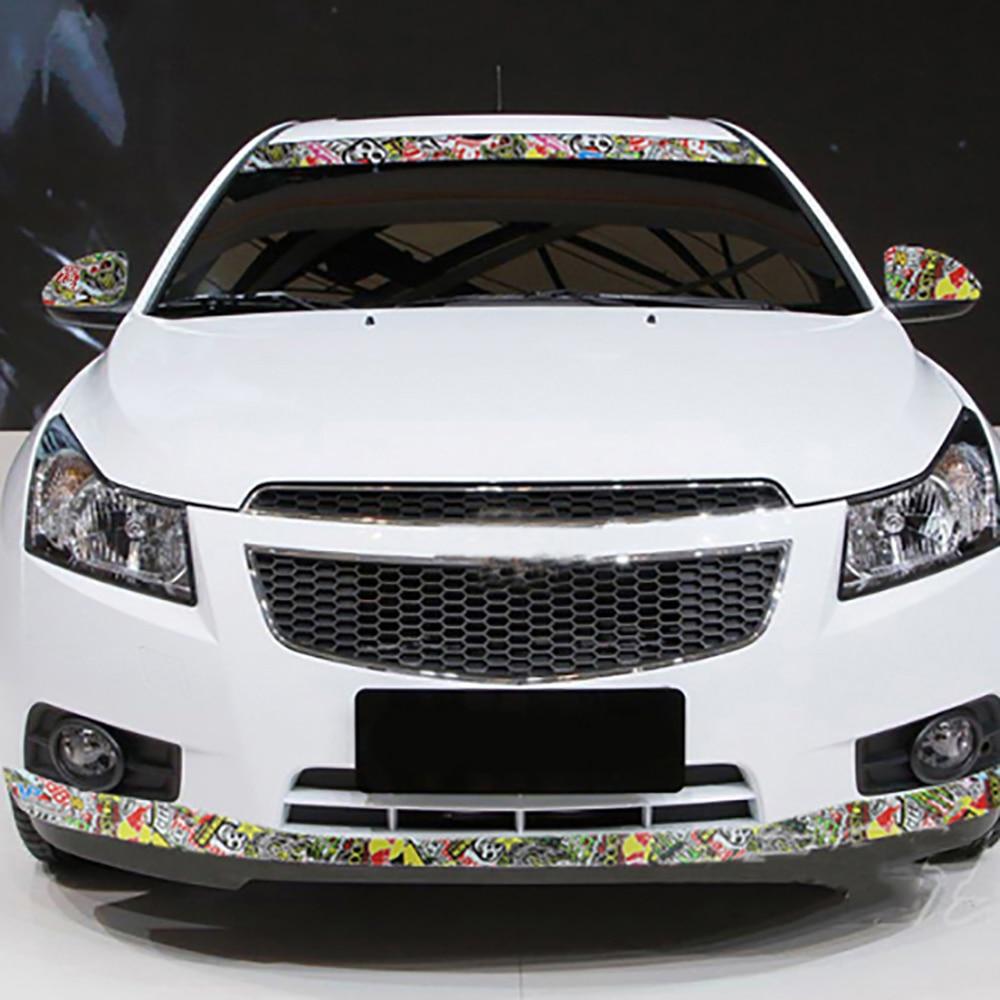 Car Styling 30cm 100cm Graffiti Cartoon Vinyl Wrap Car Motorcycle