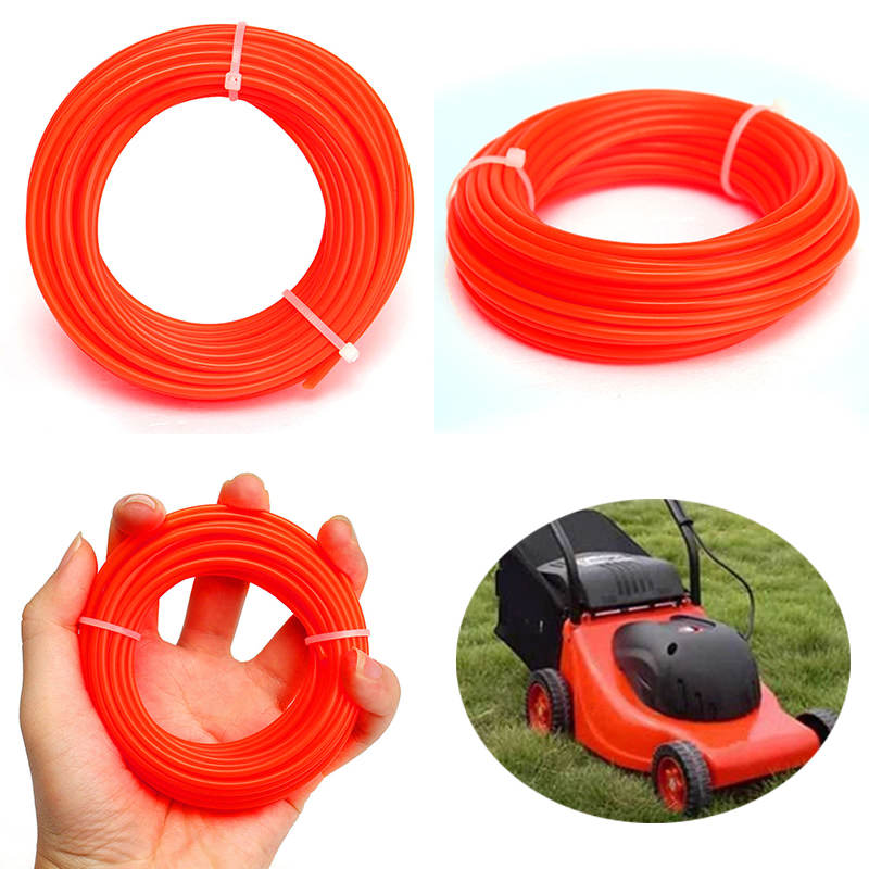 Nylon String Trimmer Rope Line .095 for Petrol Strimmers Machine Grass Trimmer Line for Brush Cutter 2.4mmx10m Mayitr