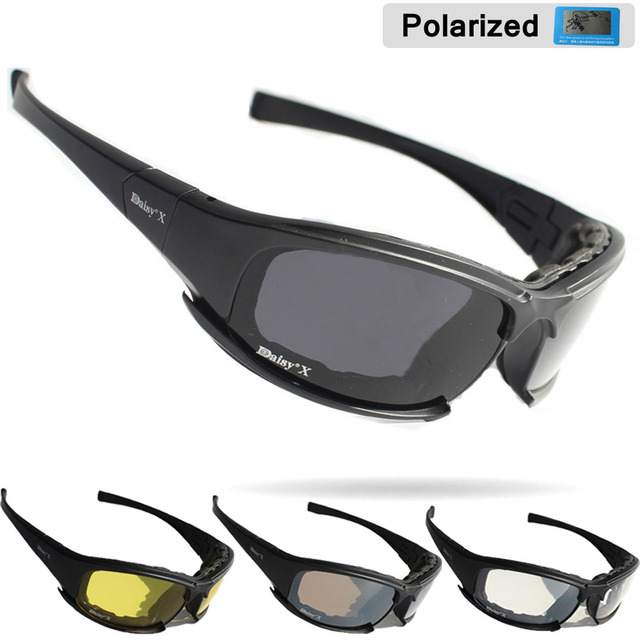 913b5dbd68a Daisy X7 Military Goggles Bullet-proof Army Polarized Sunglasses 4 Lens  Hunting Shooting Airsoft Eyewear Motorcycle Glasses