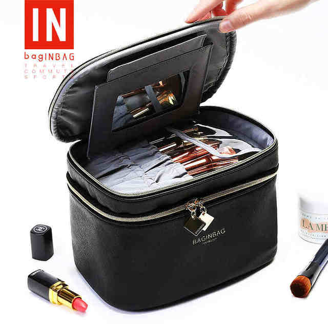 Baginbag Lovely Cosmetic Bags Portable Travel Makeup Organizer Large Capacity Women Bag With Mirrow