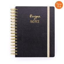 Flexy Della Copertura Ricette e Note Ufficiale Wire O Governato Foderato di Cottura Notebook Journal