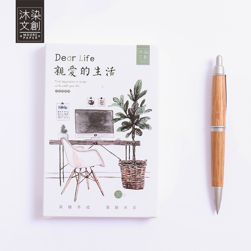 30 Sheets/Set  Dear Life  Postcard/Greeting Card/Message Card/Birthday Letter Envelope Gift Card