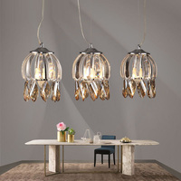 Modern champagne crystal Pendant Lights E14 *3 Kitchen lights Bedroom lamp Dining Room Restaurant sconce Led lights & lighting