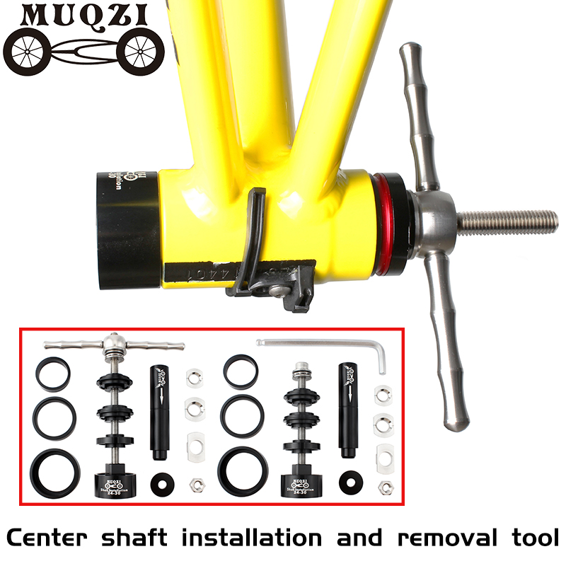 MUQZI จักรยานด้านล่างวงเล็บติดตั้งและเครื่องมือกำจัดเพลา Disassembly สำหรับ BB86/30/92/PF30 จักรยานเสือภูเขาแ...