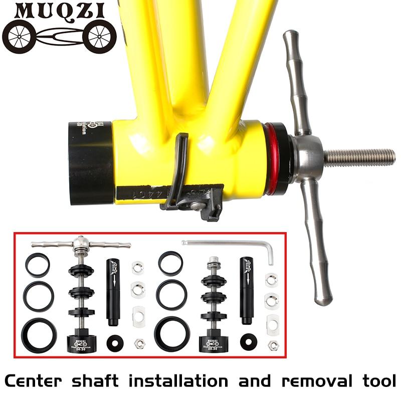 Muqzi bicicleta suporte inferior instalar e ferramenta de remoção desmontagem do eixo para bb86/30/92/pf30 mountain bike estrada engrenagem fixa