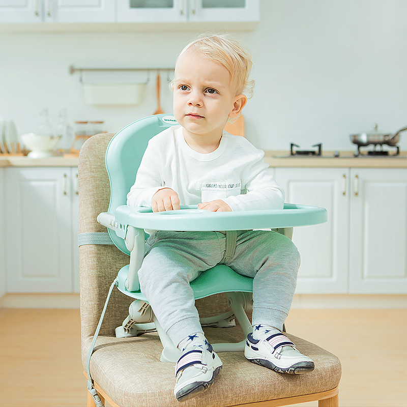 Baby Dining Chair Children's Table Dinner Seat Multi-function Folding Portable Dinette Baby Learning Chair