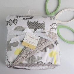 Baby blankets 2017 new thicken double layer fleece infant swaddle bebe envelope stroller wrap for newborns.jpg 250x250