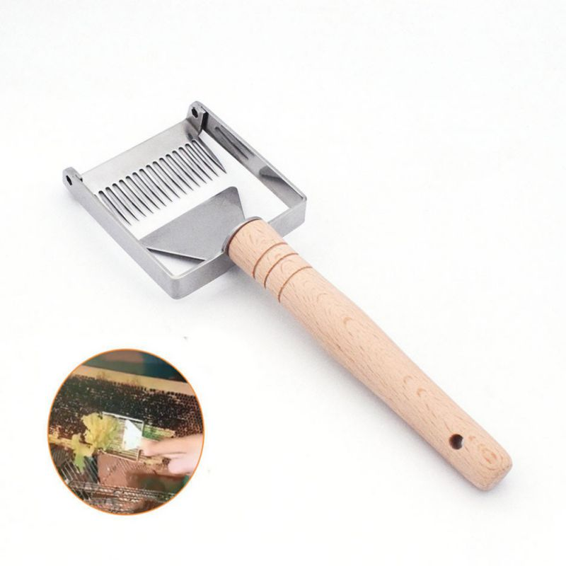 Straight Needles Beekeeping Tool Stainless Steel Bee Hive Uncapping Honey Fork Scraper Shovel Beekeeping Tool