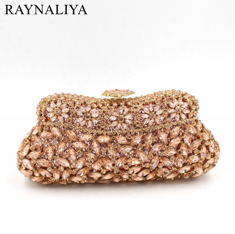 Women Luxury Crystal Evening Bag Female Wedding Party Clutches Bags Diamonds Gold Silver Clutch Smyzh-f0311 milisente women evening bags silver ladies wedding clutches bag gold luxury crystal party diamonds clutch